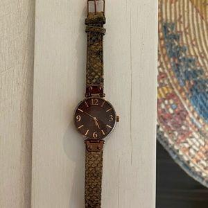 Brown Anne Klein watch